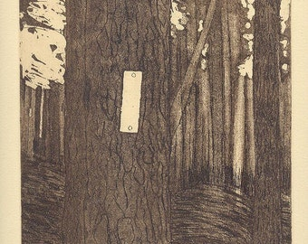 TRAIL MARKER original limited edition etching