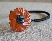 Bakelite Flower Bracelet