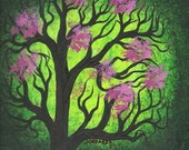 Tree, Green tree, Original Acrylic painting by TREEARTIST on ETSY, Jordanka Yaretz