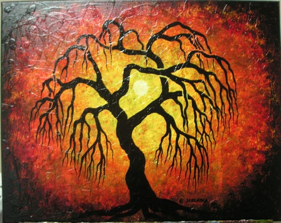 Weeping willow tree , Original painting by Jordanka