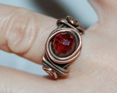 Cherry Ring - Cubic Zirconia and Copper