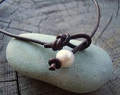 Freshwater Pearl Leather Anklet