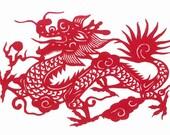 Chinese Dragon Iron-On Sheet