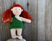 SALE TODAY Handknit Doll - Cave Girl - Oogla - Troglodyte Ready to Ship