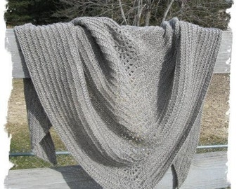 Lace Shawl Pattern Easy Lace Knitting Pattern Beginner Knitting Pattern