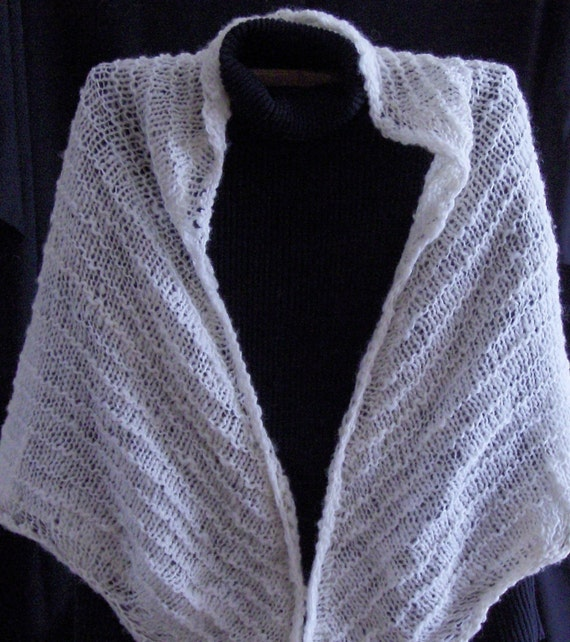 Beginner Lace Knitting Patterns : Lace Shawl Pattern Easy Lace Knitting Pattern Beginner Knitting Pattern from ...