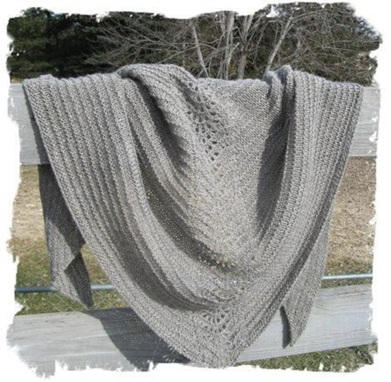 Knitting Patterns For Beginners Shawl : Lace Shawl Pattern Easy Lace Knitting Pattern Beginner