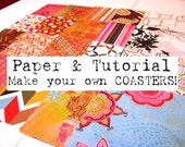 Coaster Tutorial and Paper Set - 80 Sheets of 4x4 Paper (Set H)