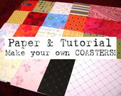 Coaster Tutorial and Paper Set - 80 Sheets of 4x4 Paper (Set V)