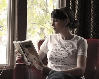 SALE - MEDIUM - last in stock - Mr. Darcy Proposal organic t shirt