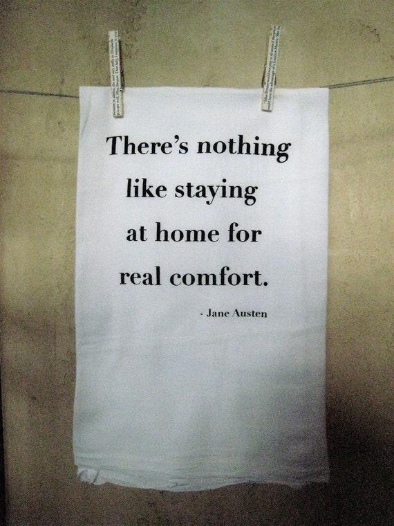 NEW- Jane Austen Quote Dishtowel