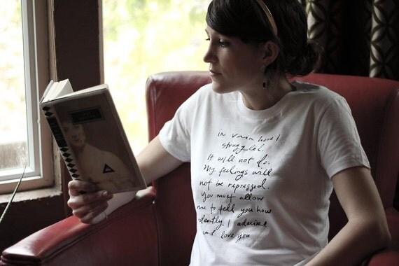 LARGE - LAST ONE - Mr. Darcy Proposal organic t shirt