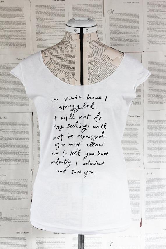 Mr. Darcy Proposal scoop neck t shirt - Jane Austen