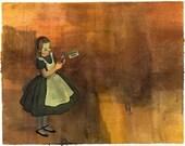Alice in Wonderland Print Sampler Set of 3 4x6 SALE