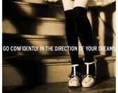 Go Confidently 8x10 Inspirational Quote Art Print