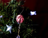 Holiday Ornament, shimmery, henna style, crystals, beads...Dotted Peace