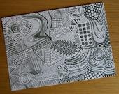 Doodle Art Card (Postcard)