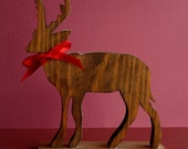 DESTASH Wooden Reindeer Decoration