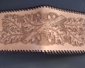 Mens Hand Tooled Leather Wallet