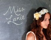 Miss Laine, chiffon and beaded headband