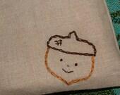 Acorn Cutie--Linen Pouch