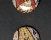 set of two 1inch pins