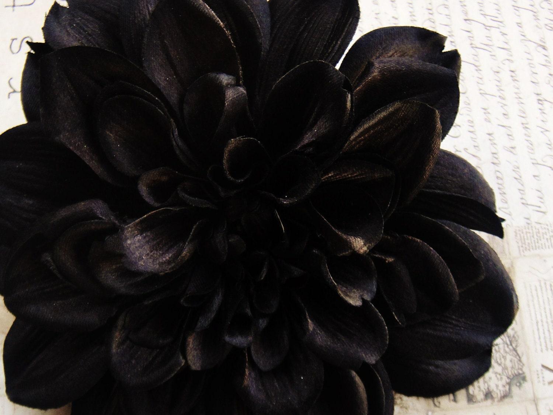 Black Dahlia Hair Flower Clip