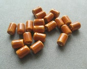 Spanish Brown Porcelain Cylinder Beads