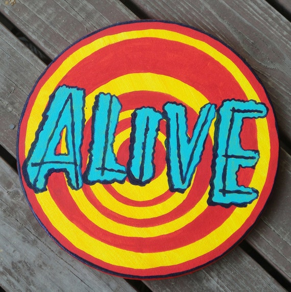 ALIVE Sideshow banner bullet painting