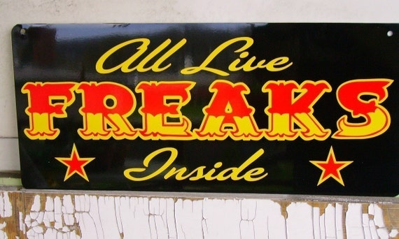 Circus Sideshow Freakshow Sign By Cinda On Etsy