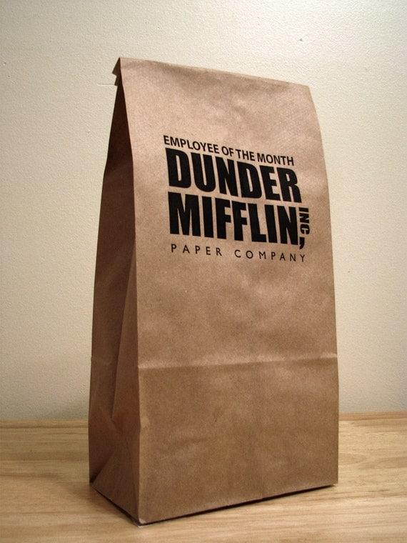 5 The Office Tv Show Dunder Mifflin Lunch Bags
