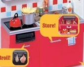 Cute Japanese Re-Ment Supplies - Kitchen stove Red
