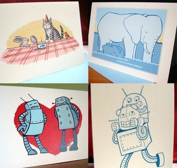 Make your own set of four cards, FREE shipping