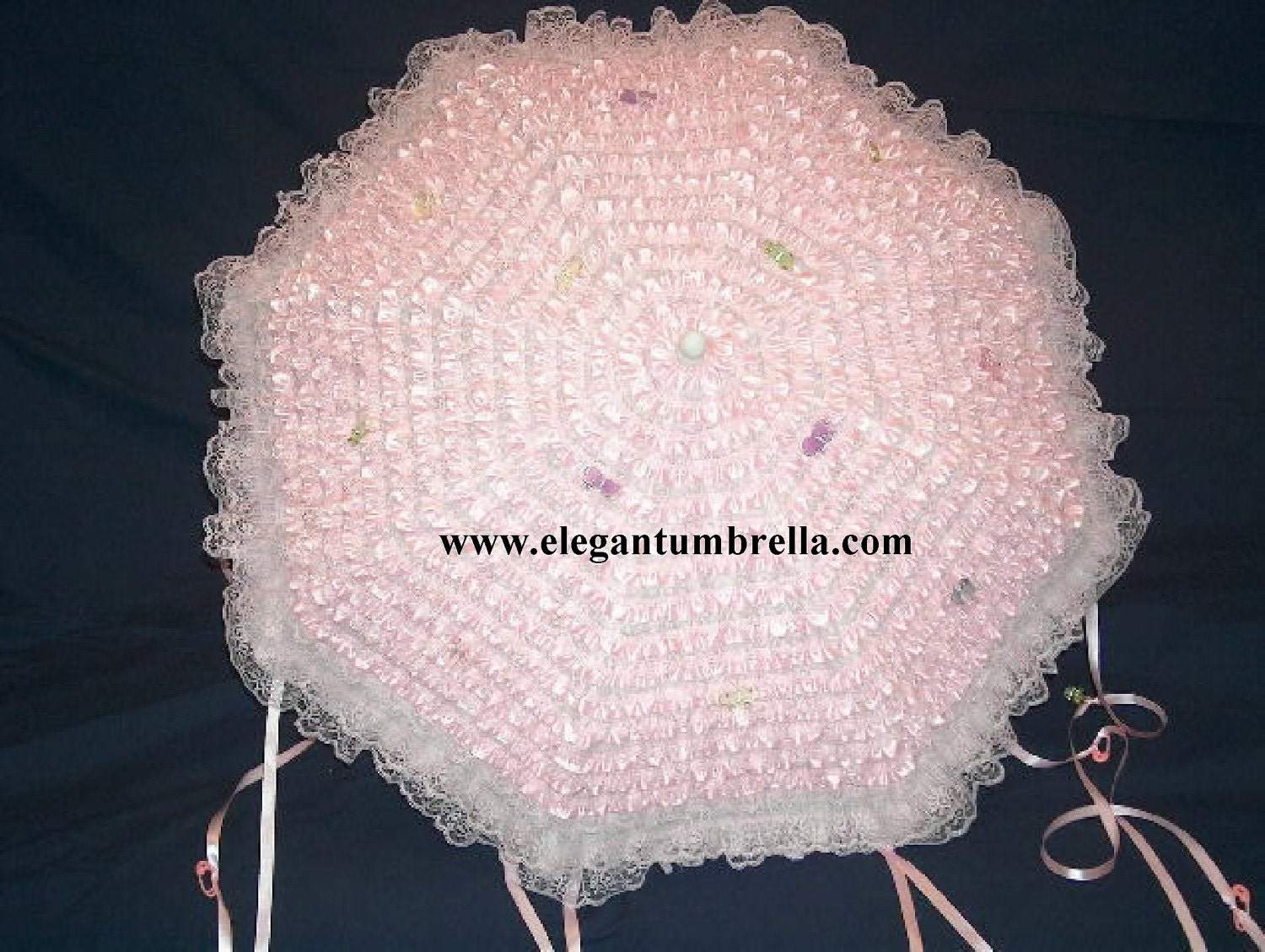 34 inch pink lace baby shower umbrella