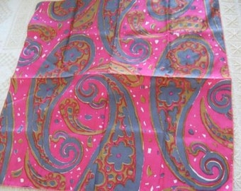 Vintage Vera Neumann Paisley Silk Scarf
