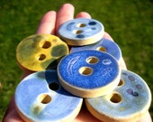 Grab Bag of 4 Sturdy Ceramic Round Buttons