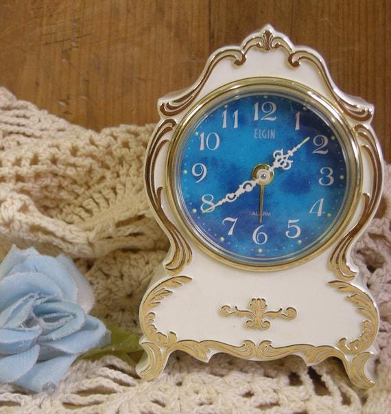 Elgin Princess Alarm Clock Vintage 60s Shabby Chic