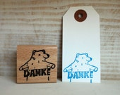 Danke-polar bear - rubberstamp - 40x40mm