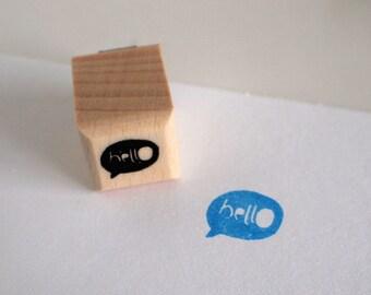 hellO - rubberstamp - 20c20mm