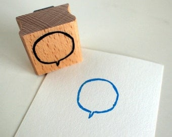 little speech bubble - rubberstamp - 30x30cm - by SiebenMorgen