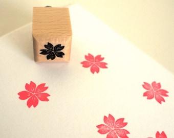 cherry blossom  - rubberstamp - 20x20mm