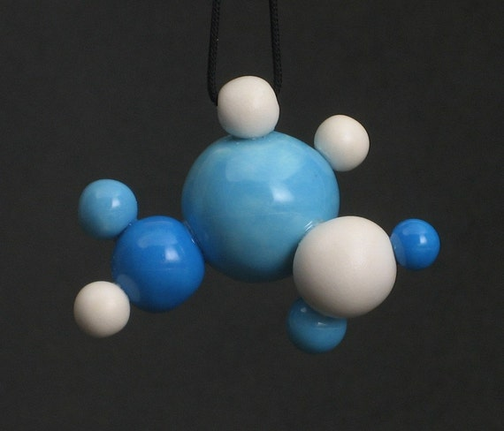 partly cloudy sky - molecular ball ceramic pendant