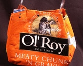 Dogfood Bag Tote - Recycled Materials, Cellphone Pocket - On Sale for a limited time
