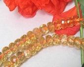 Bastet's Beads- 20 Facet Citrine Gemstone Rondelles 3-4x6mm