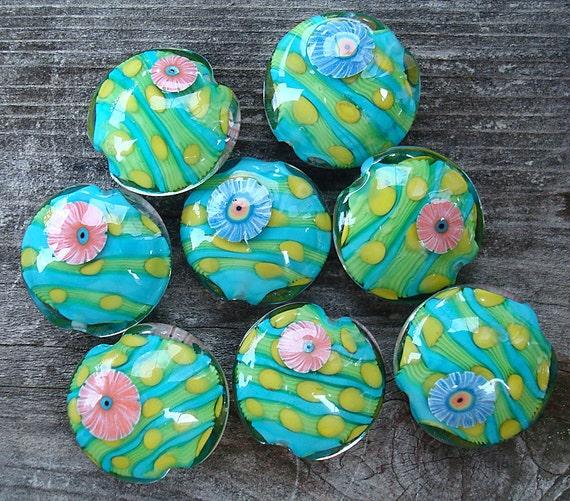 Loribeads - Colorpop Lentils - lampwork beads