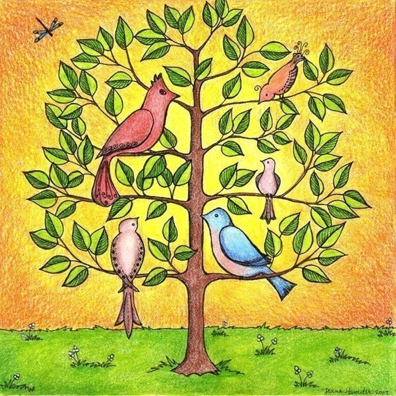 The Gathering Tree Art Print