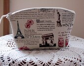 Cosmetic Bag Clutch Zipper Purse Travel Journal