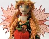 Annona the Harvest Fairy an OOAK  Cloth Art Doll