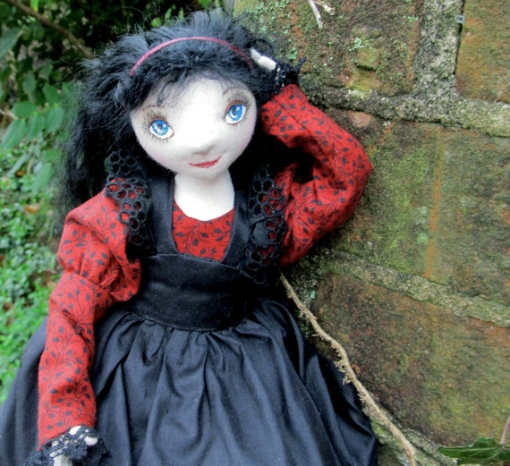 Dark Alice - An OOAK Gothic Lolita Art Doll Reserved for Phillipa Final Payment