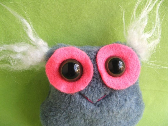 SALE 50% off fuzzy Monster handmade stuffed toy